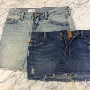 Two denim miniskirt's